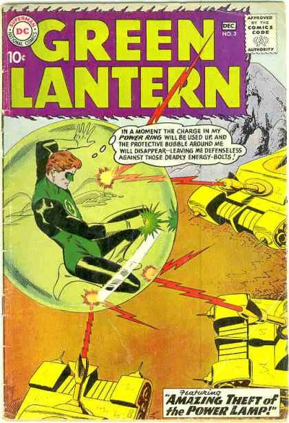 Green Lantern 3 - The Amazing Theft Of The Power Lamp!