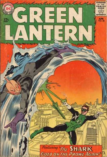 Green Lantern 28 - The Shark Goes on the Prowl Again!