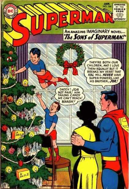 Superman 166 - The Fantastic Story Of Superman's Sons!