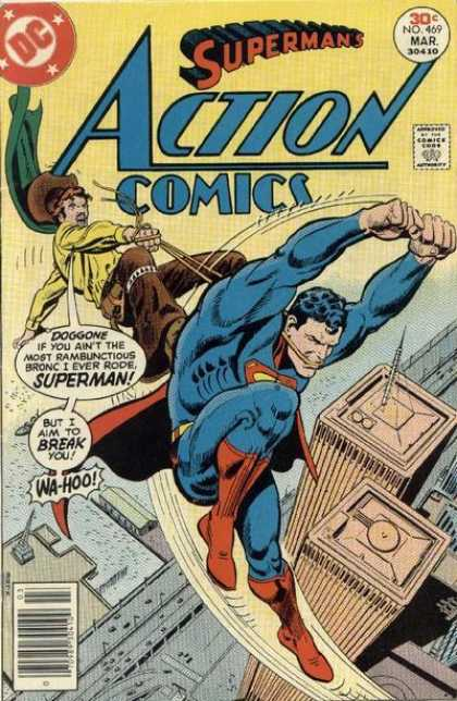 Action Comics 469 - The Night Superman Was Buried In Boot Hill!
