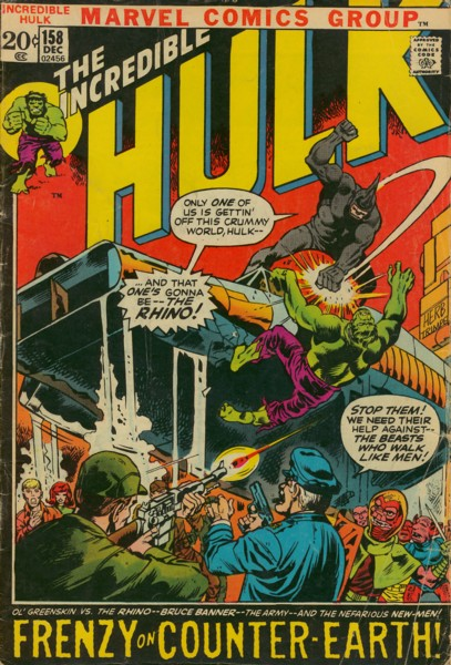The Incredible Hulk 158 - Frenzy on a Far-Away World!