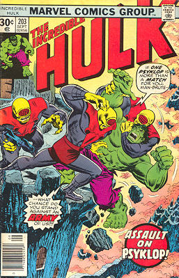 The Incredible Hulk 203 - Assault on Psyklop!