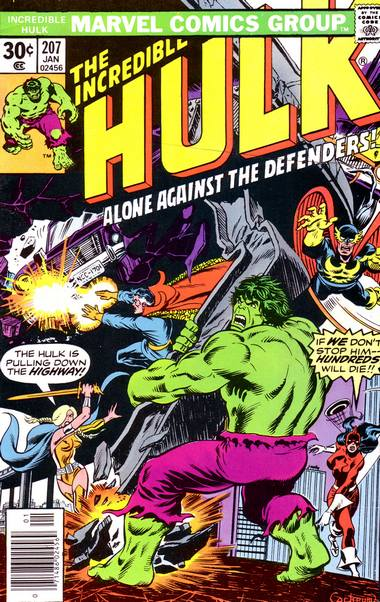 The Incredible Hulk 207 - Alone Against the Defenders!