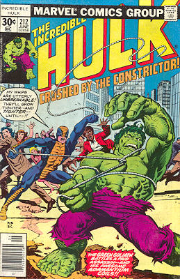 The Incredible Hulk 212 - Crushed By The Constrictor!