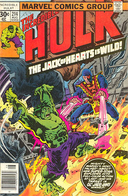 The Incredible Hulk 214 - The Jack of Hearts is Wild!