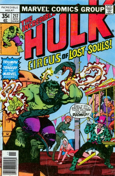 The Incredible Hulk 217 - The Circus of Lost Souls!