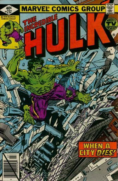 The Incredible Hulk 237 - When a City Dies!