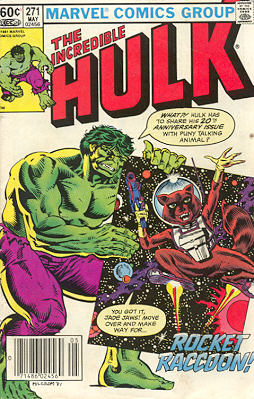 The Incredible Hulk 271 - Rocket Raccoon!