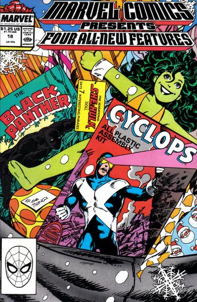 Marvel Comics Presents 18 - Cyclops, Black Panther, She-Hulk, Willie Lumpkin  Cyclops story  Black Panther story  She-Hulk story  Willie Lumpkin story