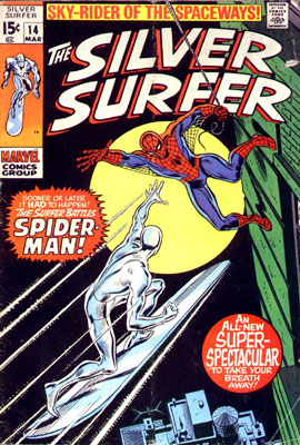 Silver Surfer 14 - The Surfer and the Spider!