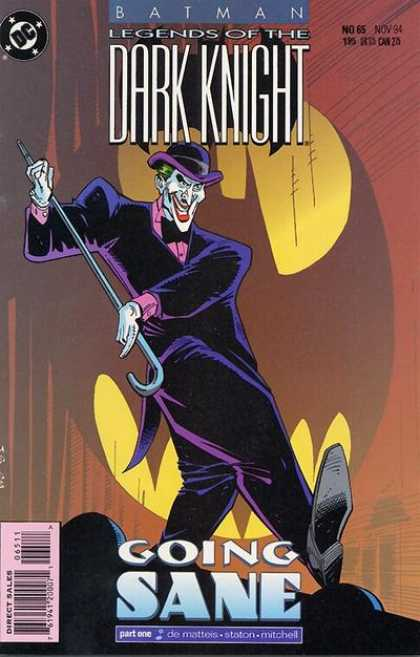 Batman - Legends of the Dark Knight 65 - Going Sane, Part One: In to the Rushing River