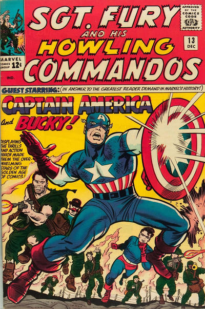 Sgt. Fury And His Howling Commandos 13 - Fighting Side-By-Side With Captain America and Bucky