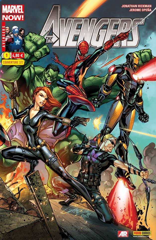 Avengers 1 - Couverture 2/2 par J.S. Campbell