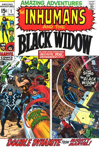 Amazing Adventures 1 - Beware ... The Inhumans! / The Sting of the Black Widow!