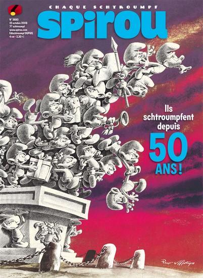 Le journal de Spirou 3680 - Ils schtroumpfent depuis 50 ans !