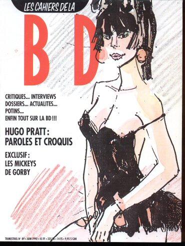 Schtroumpf Les cahiers de la bande dessinée 89 - Hugo Pratt : Paroles et croquis