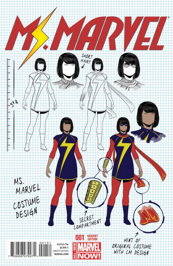 Ms. Marvel 1 - Variant cover