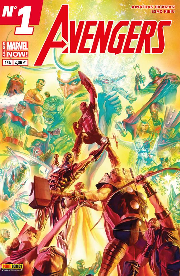 Avengers 15 - Couverture A : (Alex Ross + effet spécial)