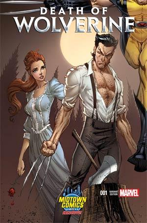 La Mort de Wolverine 1 - Death of Wolverine Part One (Midtown Comics Variant Cover)
