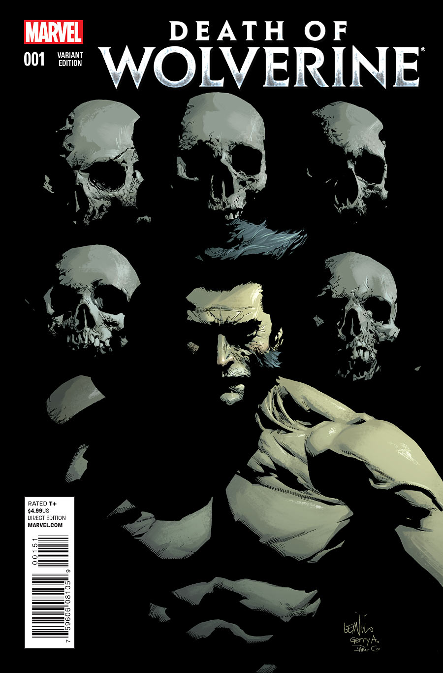 La Mort de Wolverine 1 - Death of Wolverine Part One (Leinel Francis Yu Variant Cover)