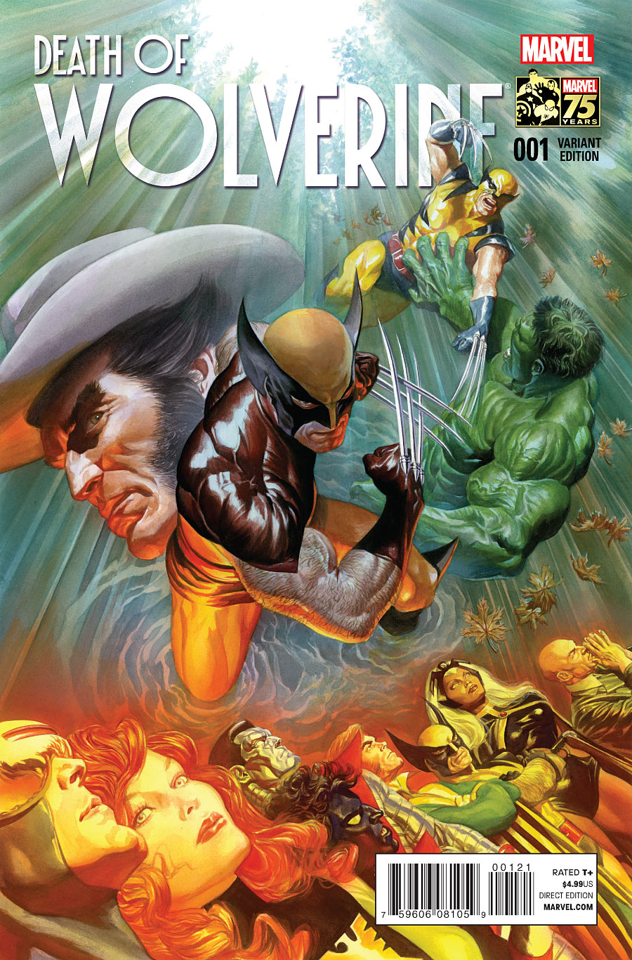 La Mort de Wolverine 1 - Death of Wolverine Part One (Alex Ross 75th Anniversary Variant Cover)