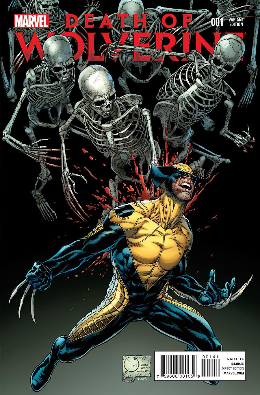 La Mort de Wolverine 1 - Death of Wolverine Part One (Joe Quesada Variant Cover)