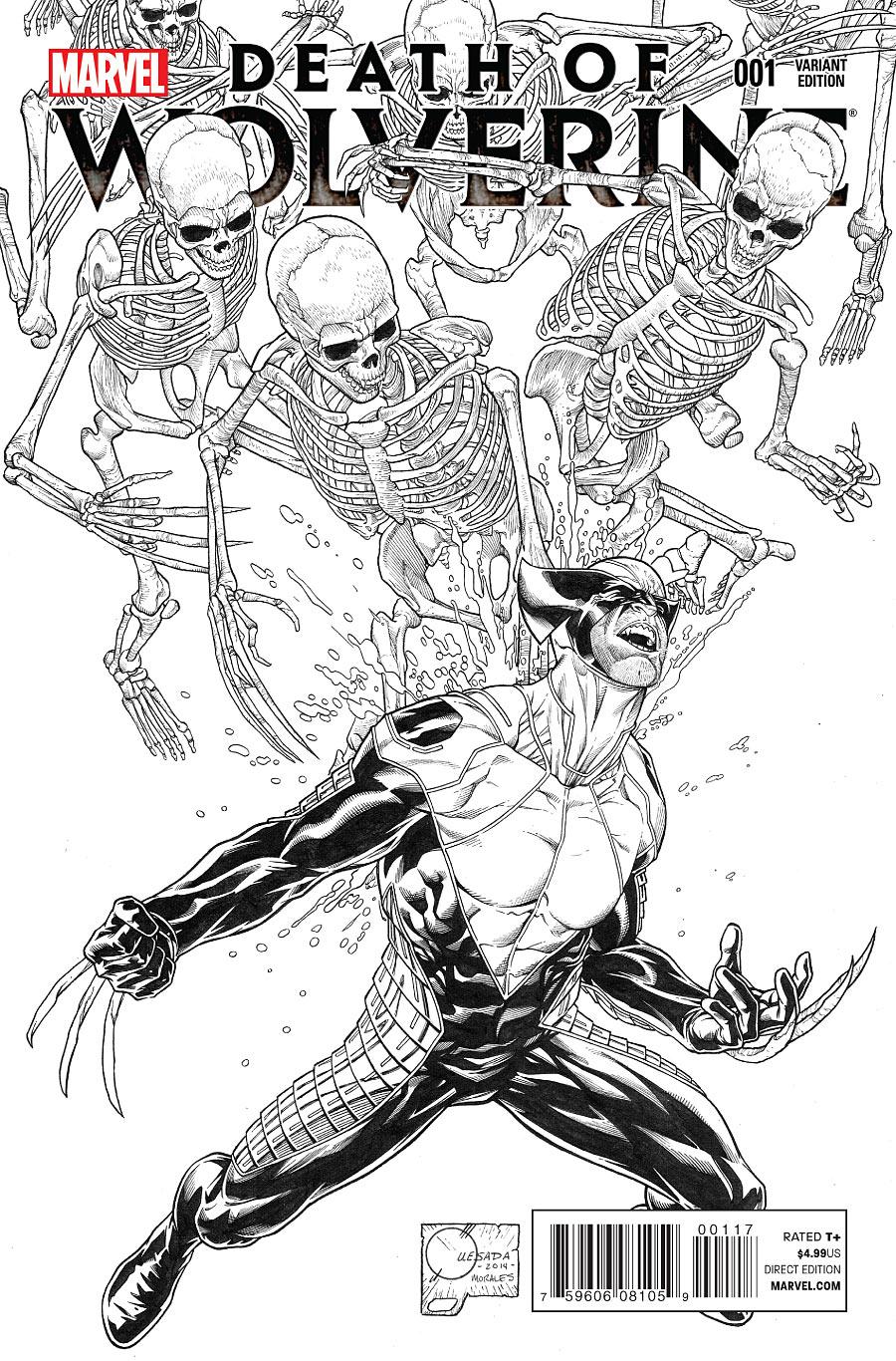 La Mort de Wolverine 1 - Death of Wolverine Part One (Joe Quesada Sketch Variant Cover)