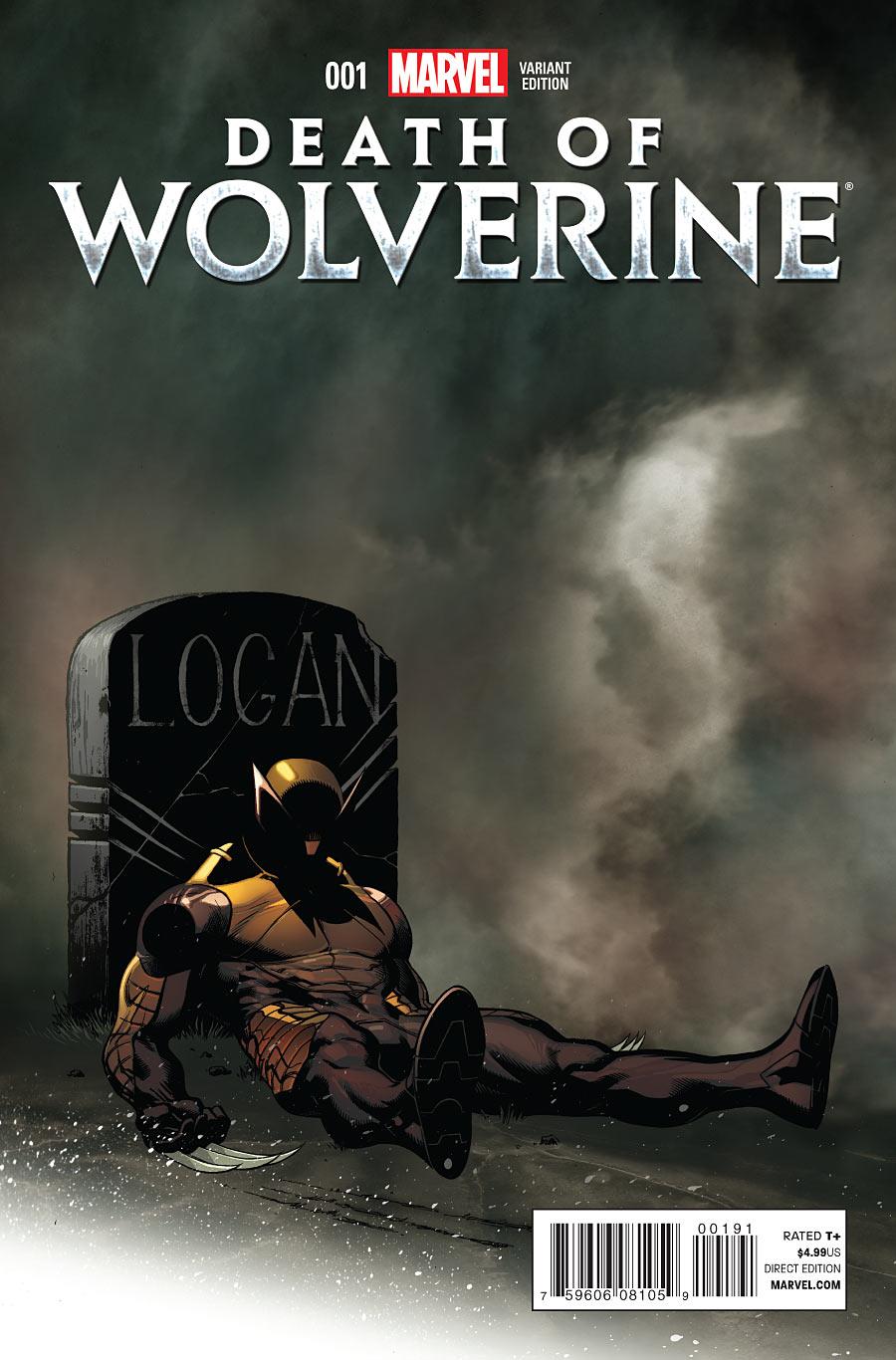La Mort de Wolverine 1 - Death of Wolverine Part One (Ed Mc Guinness Variant Cover)