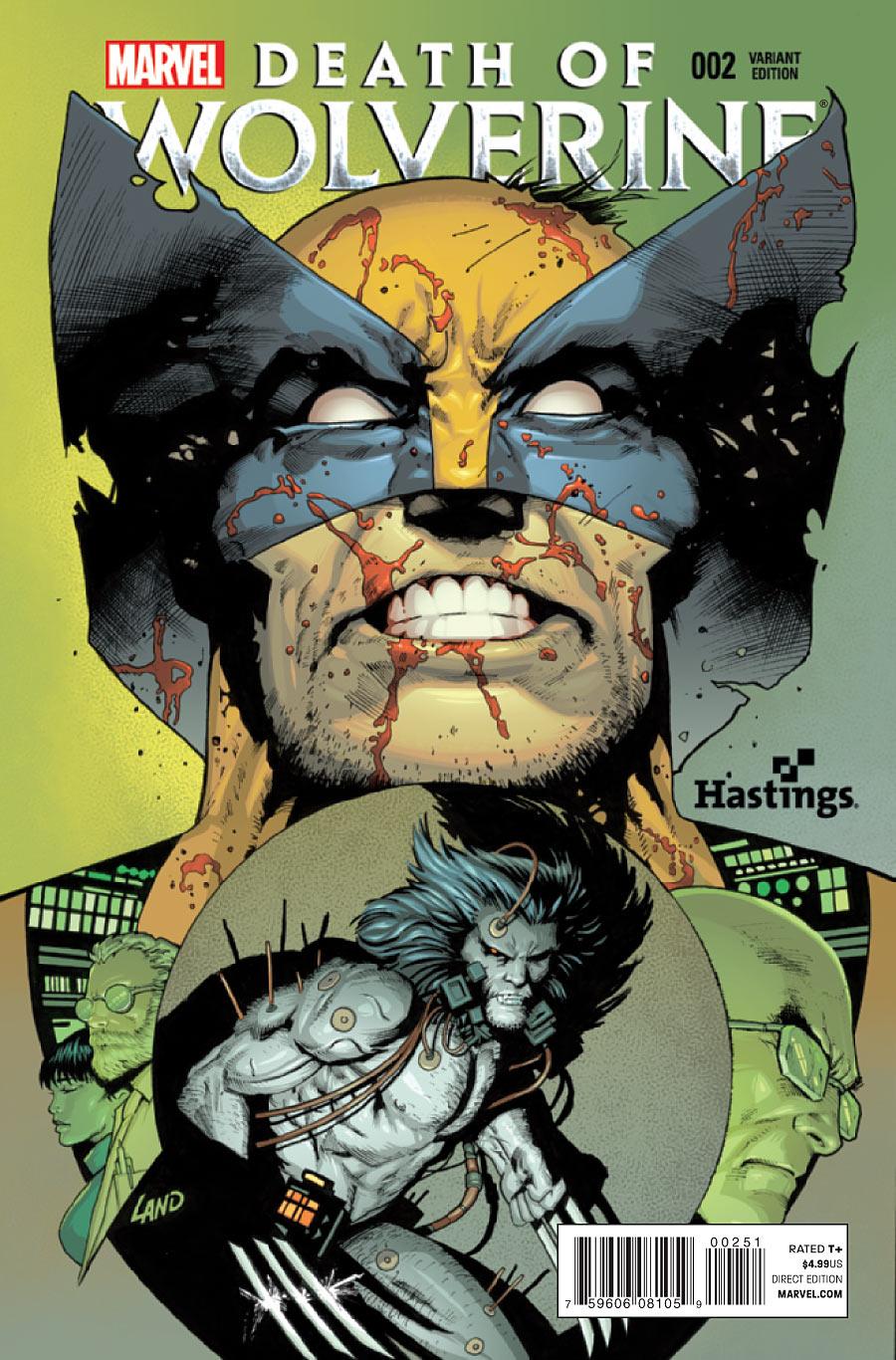 La Mort de Wolverine 2 - Death of Wolverine Part Two (Hastings Variant Cover)