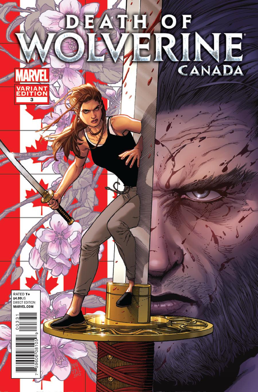 La Mort de Wolverine 3 - Death of Wolverine Part Three (Steve Mc Niven Canada Variant Cover)