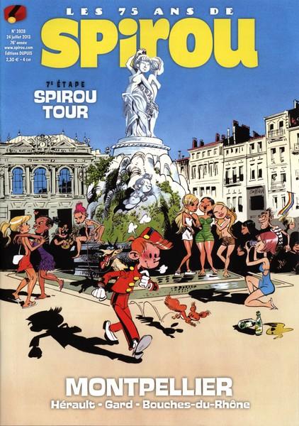 Le journal de Spirou 3928 - 7e étape Spirou Tour : Montpellier