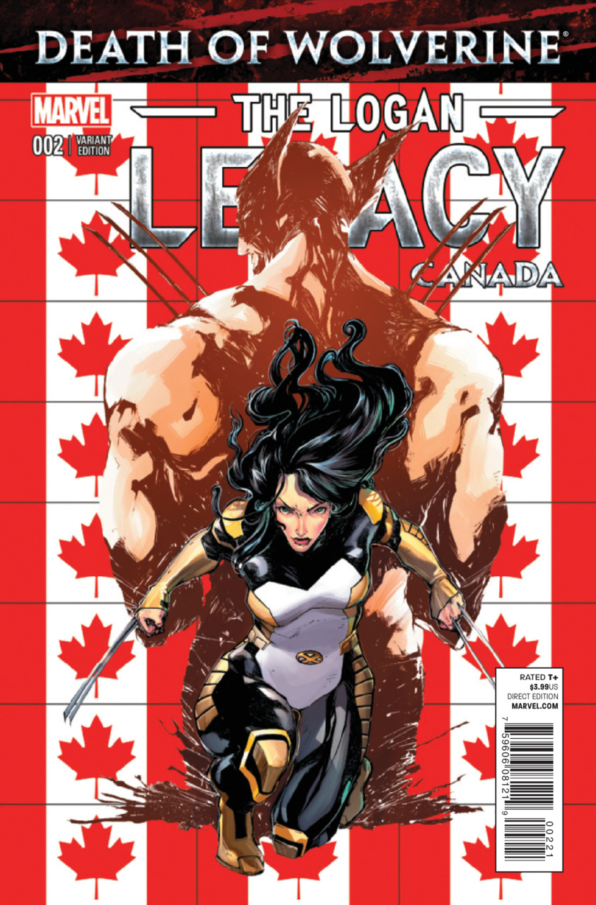 Death of Wolverine - The Logan Legacy 2 - Issue 2 (Canada Variant Cover)