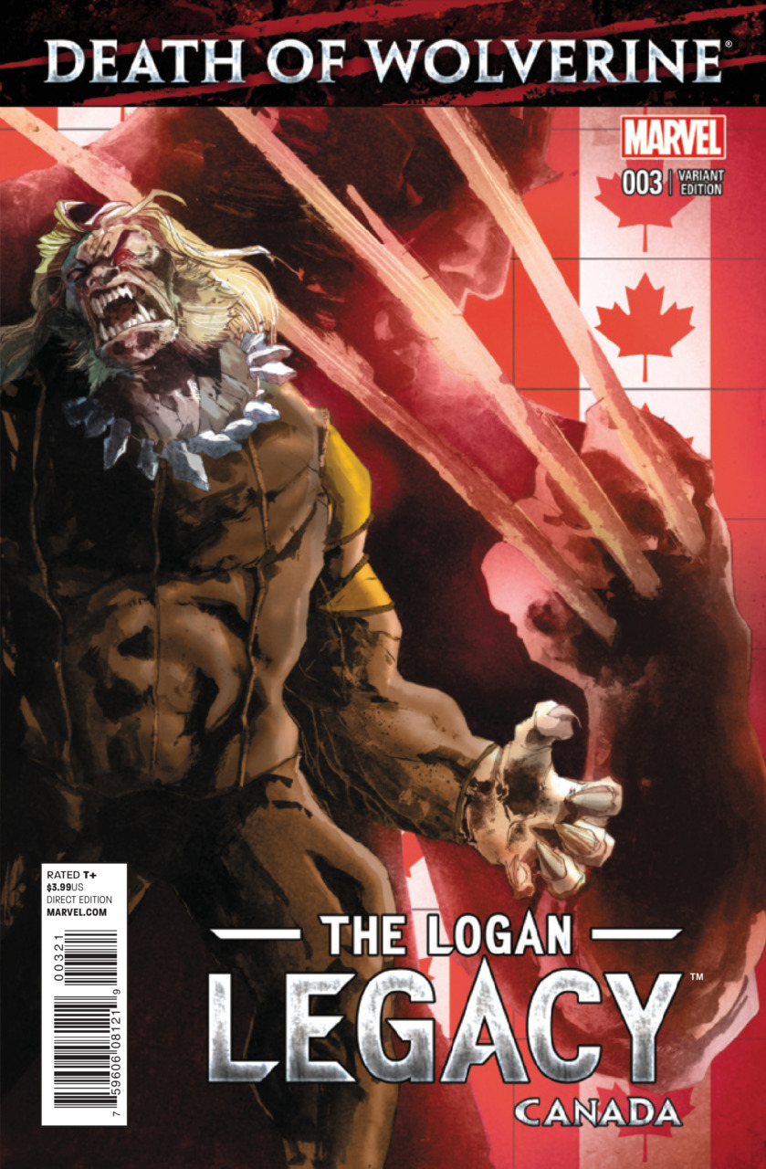 Death of Wolverine - The Logan Legacy 3 - Issue 3 (Canada Variant Cover)