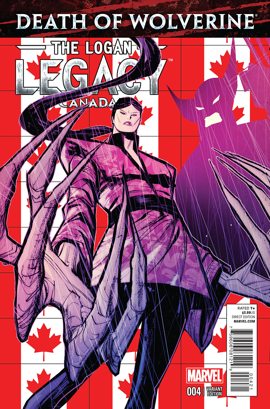 Death of Wolverine - The Logan Legacy 4 - Issue 4 (Canada Variant Cover)