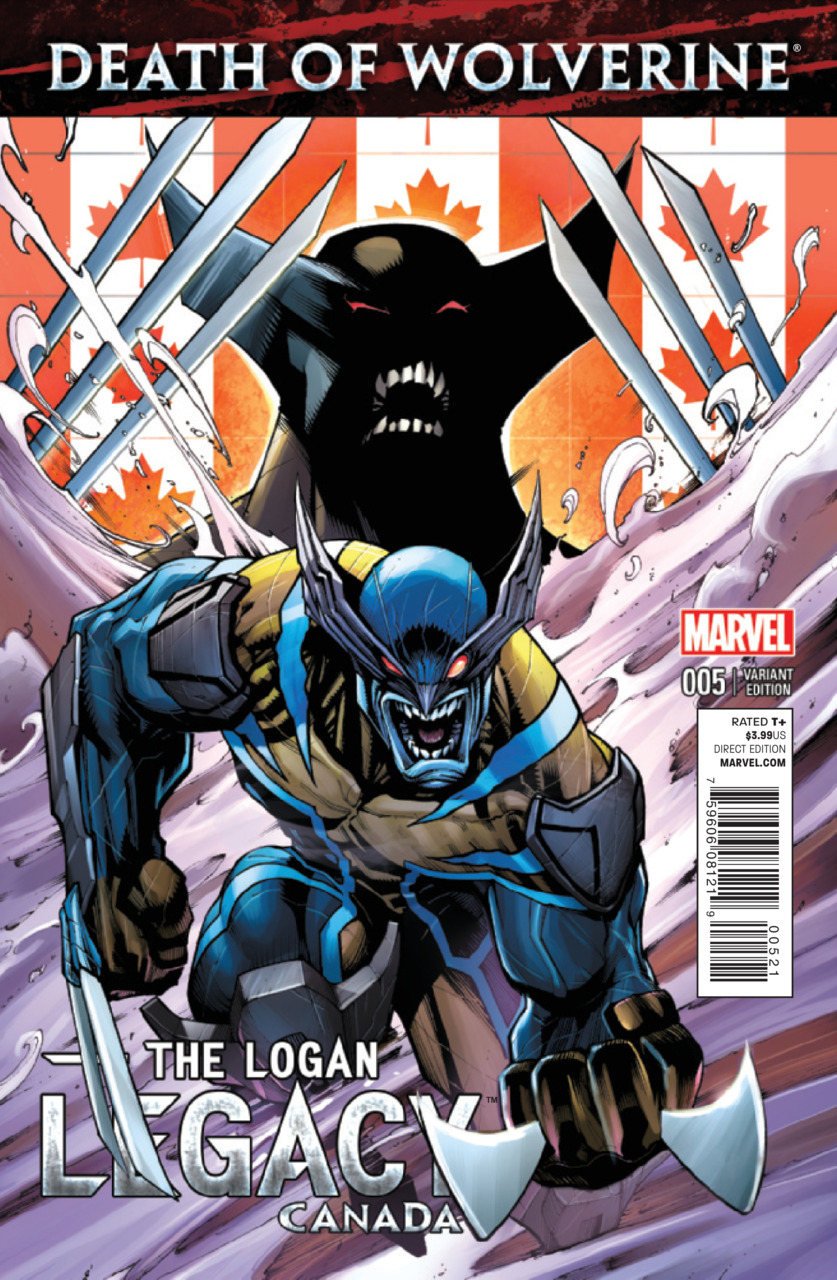 Death of Wolverine - The Logan Legacy 5 - Issue 5 (Canada Variant Cover)