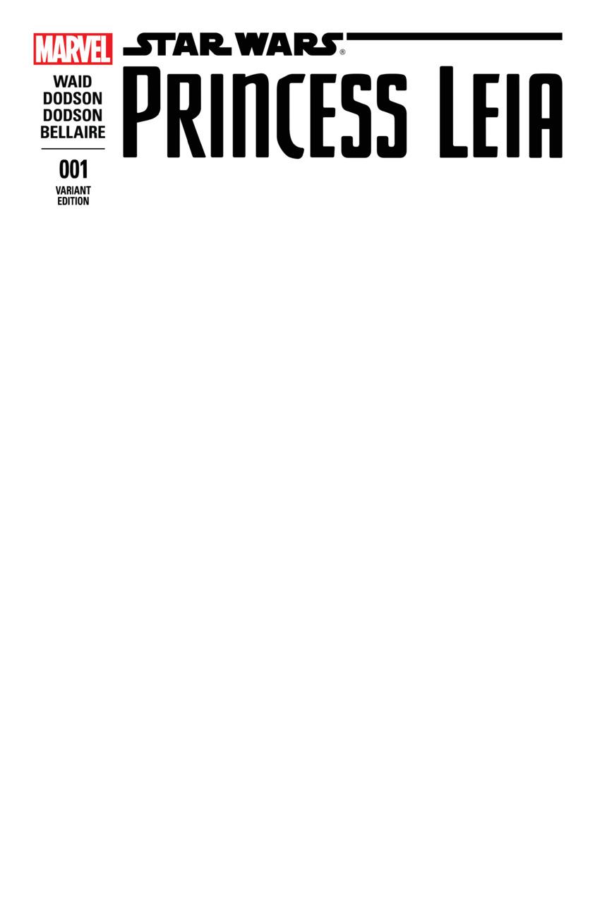 Star Wars - Princesse Leia 1 - Part I (Blank Variant Cover)