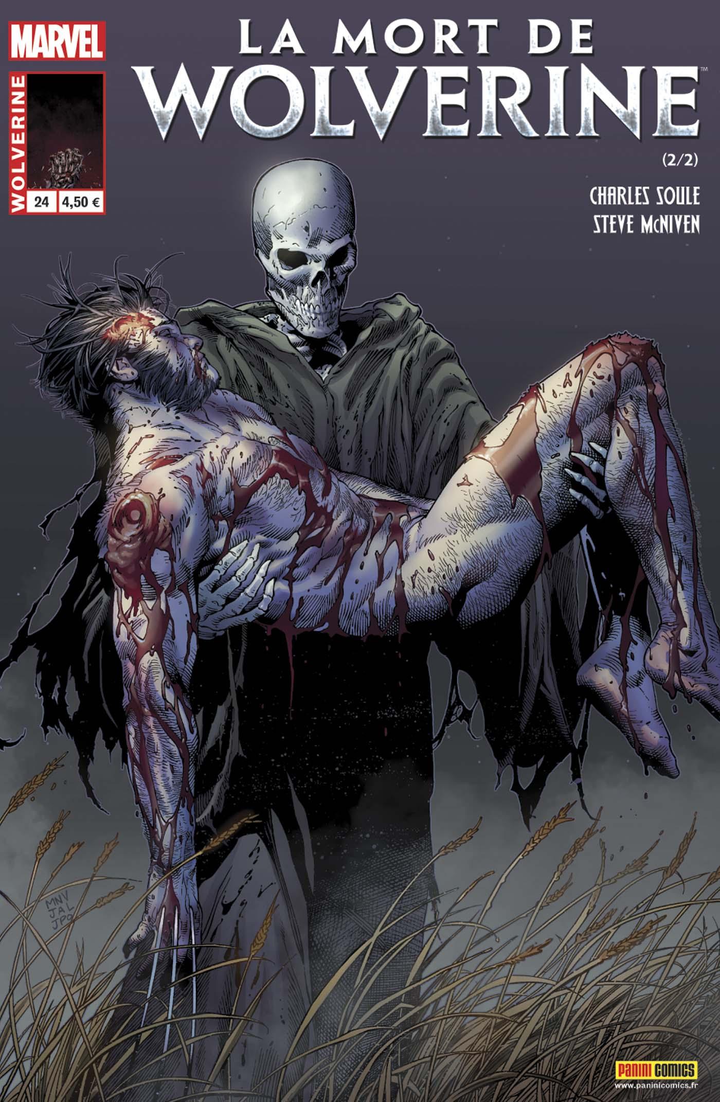 Wolverine 24 - WOLVERINE 24 : LA MORT DE WOLVERINE 2 (sur 2) Numéro collector présenté dans une enveloppe noire