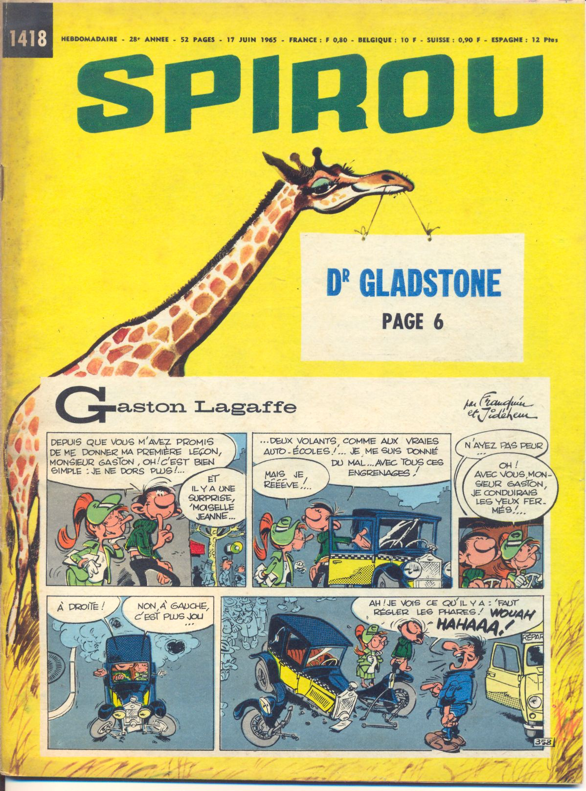 Le journal de Spirou 1418