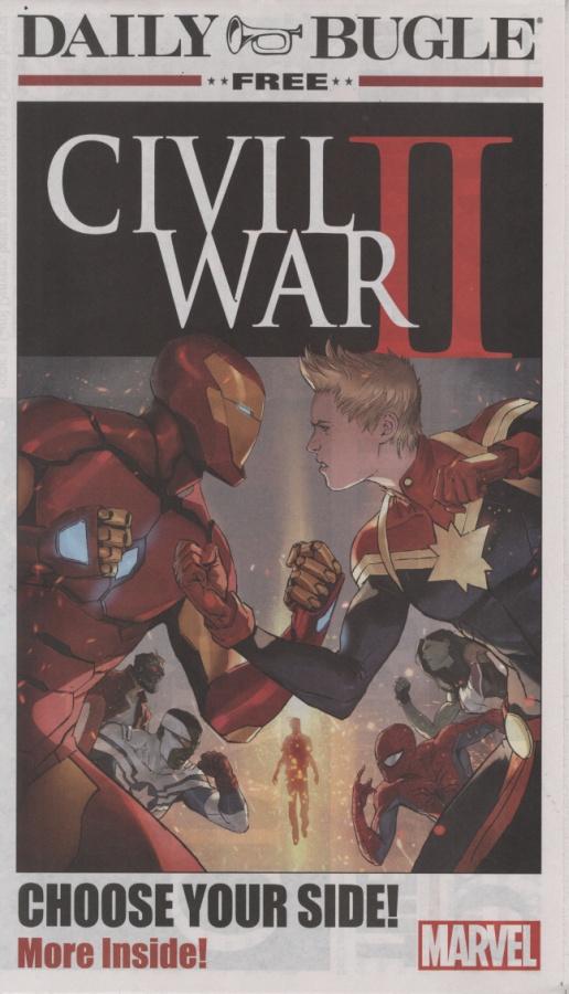 Civil War II Daily Bugle Newspaper 1