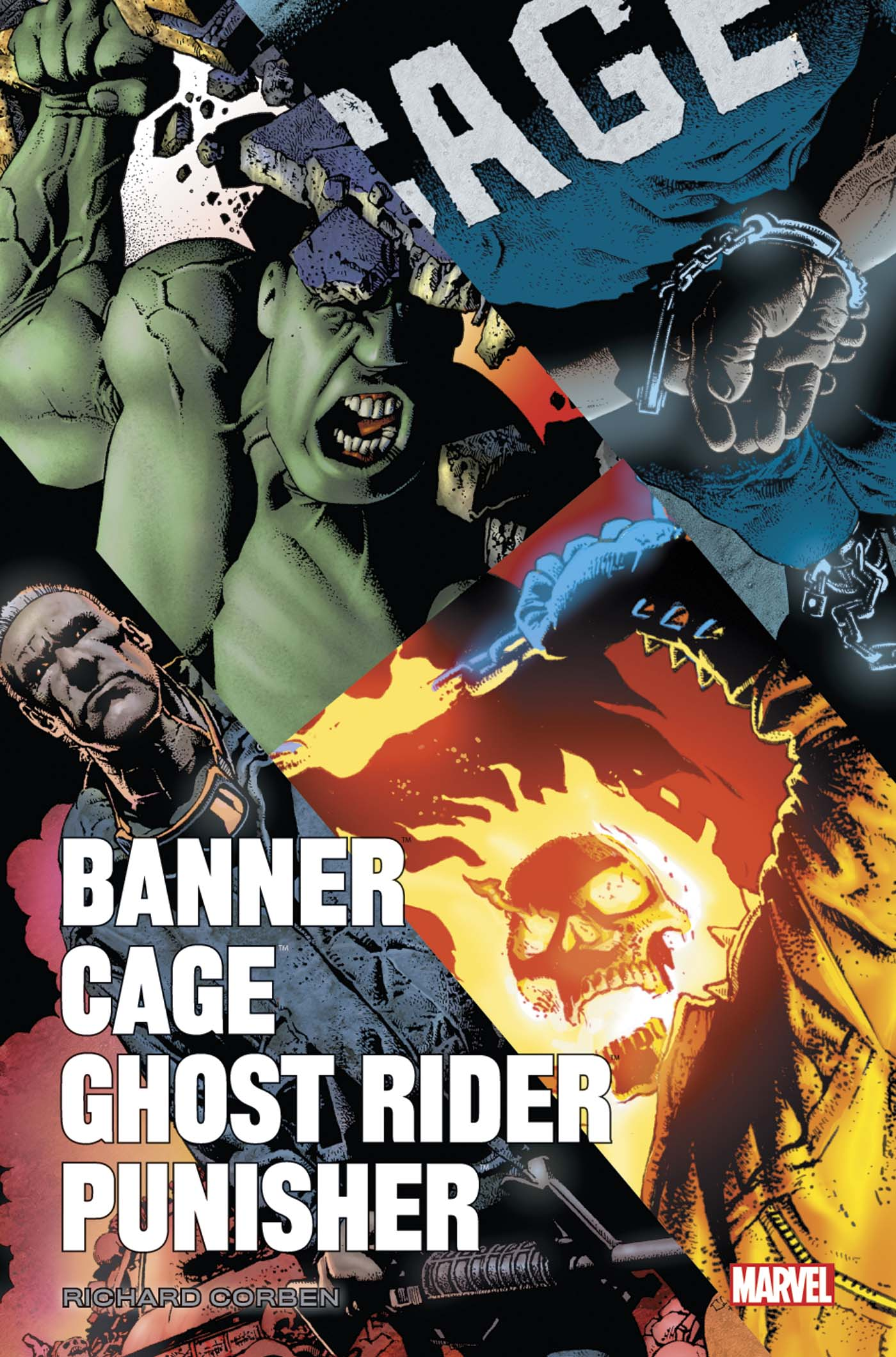 Banner / Cage / Ghost Rider / Punisher par Corben 1