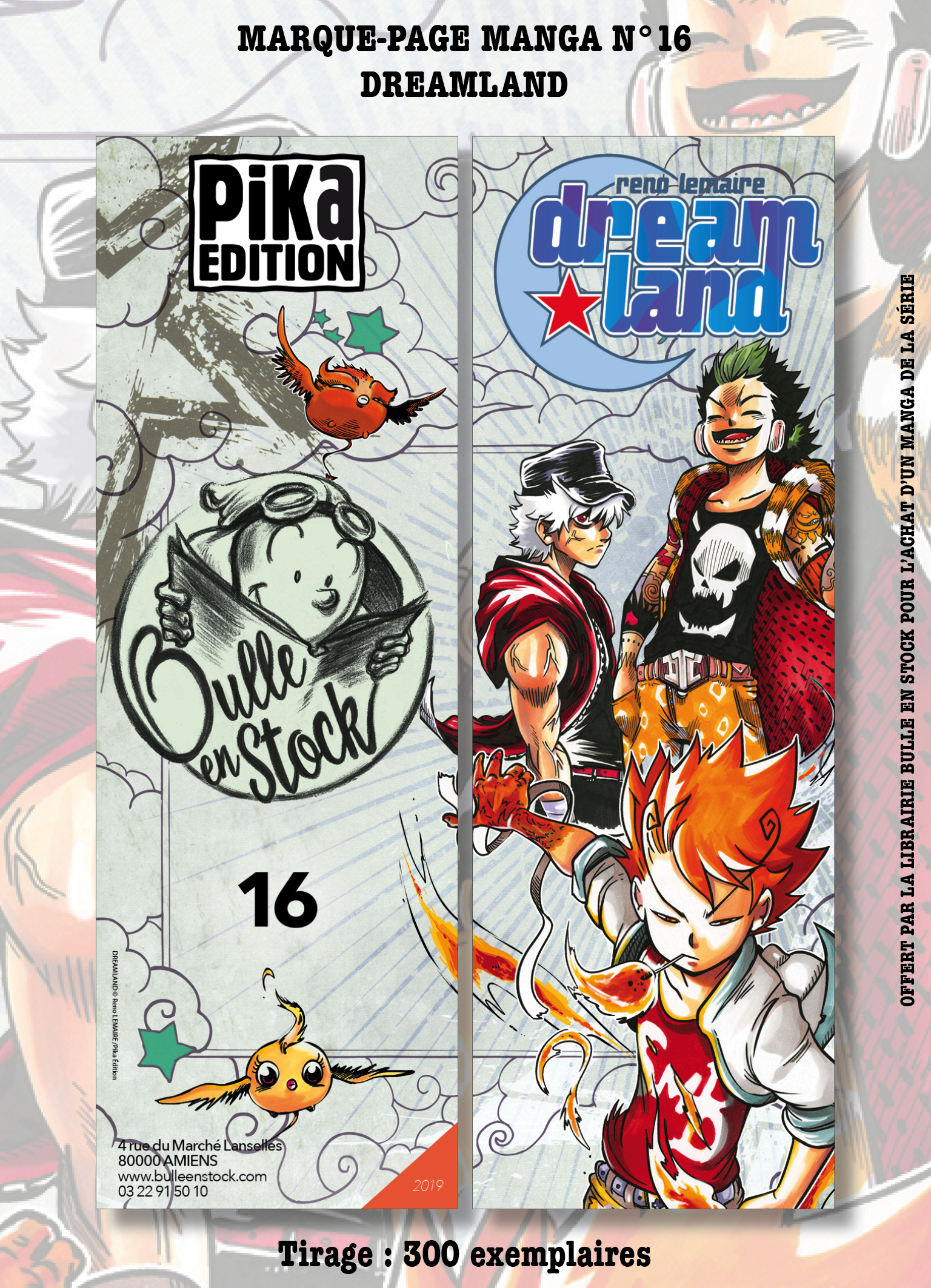 Marque-pages Manga Luxe Bulle en Stock 16 - n°16 - Dreamland