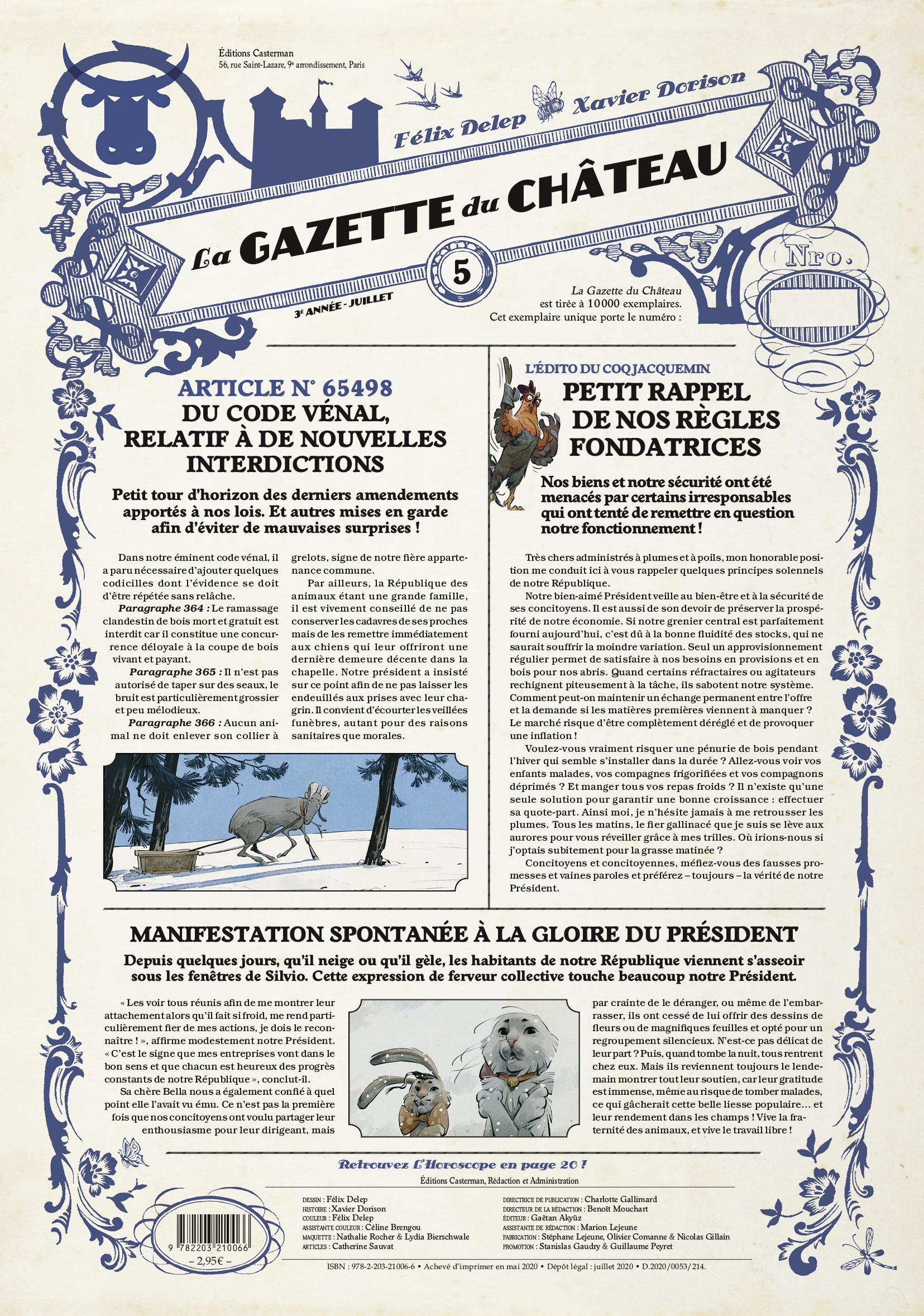 Le château des animaux 5 - La Gazette du Château - Les Marguerites de l'hiver (2/3)