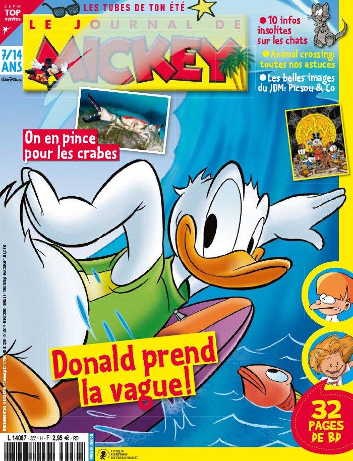 Le journal de Mickey 3551 - Donald prend la vague