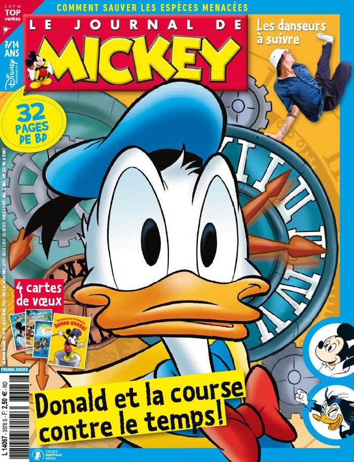 Le journal de Mickey 3576 - Donald et la course contre le temps!