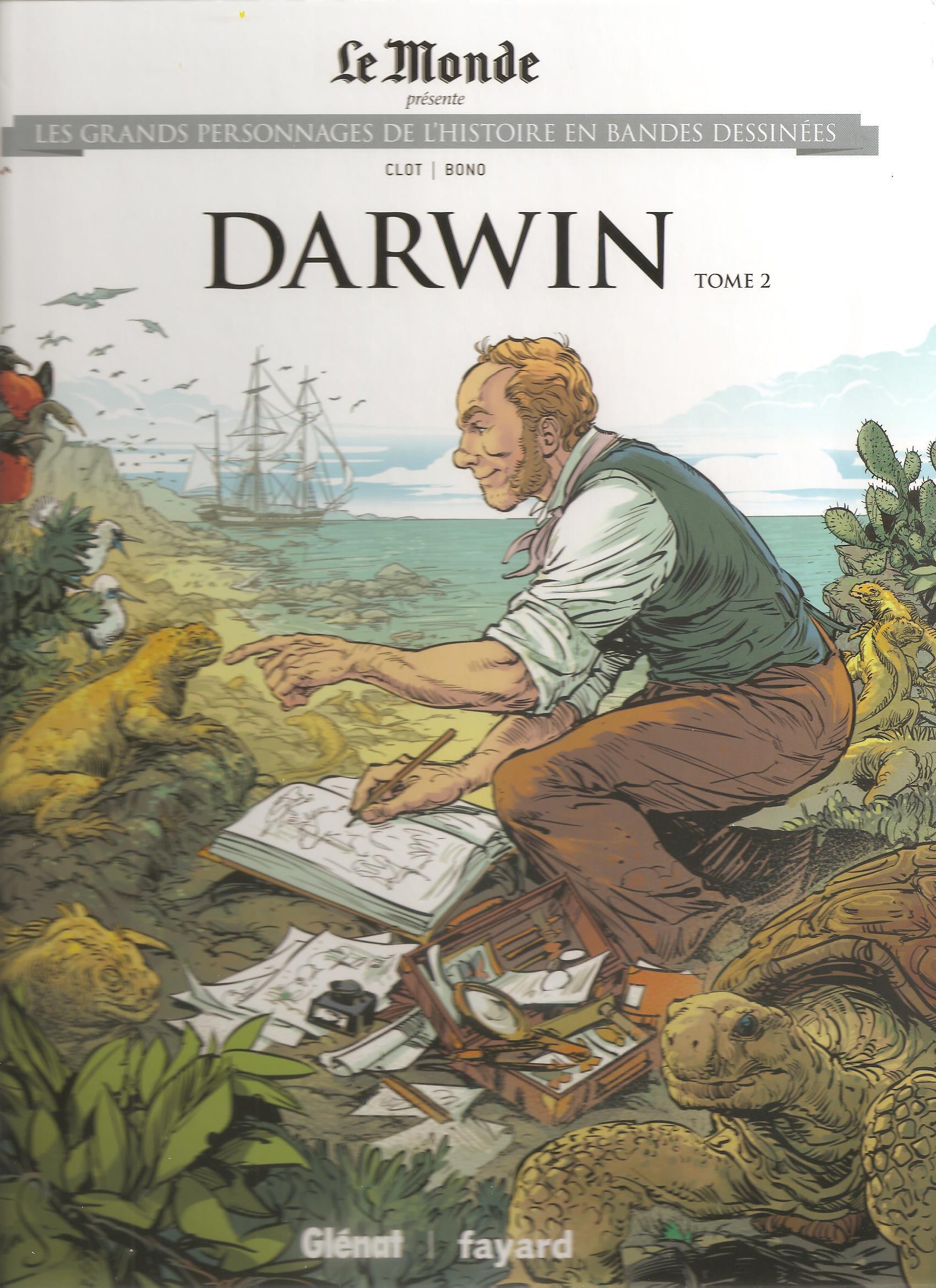 Les grands personnages de l'histoire en bandes dessinées 28 - DARWIN Tome 2
