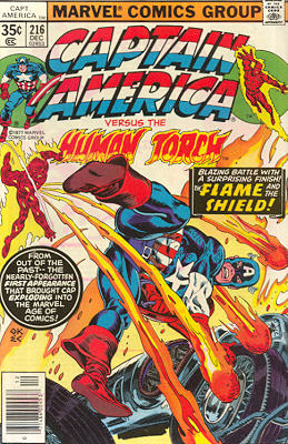 Captain America 216 - The Human Torch Meets... Captain America