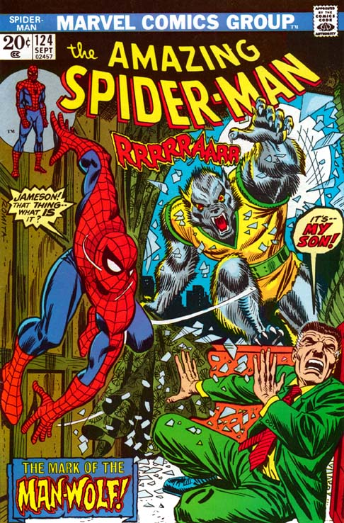 The Amazing Spider-Man 124 - The Mark Of The Man-Wolf