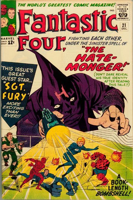 Fantastic Four 21 - The Hate-Monger !