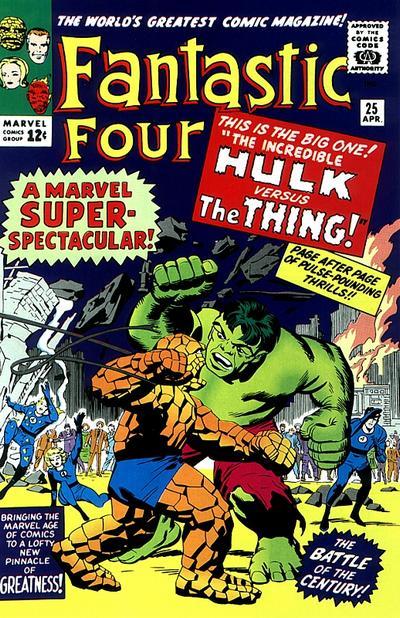 Fantastic Four 25 - The Hulk vs. The Thing
