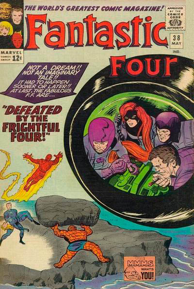 Fantastic Four 38 - Defeated by the Frightful Four !